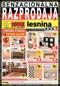 Lesnina - Posebna ponudba pohištva KARE v centru Brdo