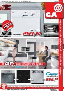 GA, gospodinjski aparati - katalog Februar 2012/1