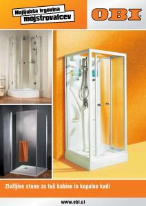 OBI - Katalog zložljivih sten za tuš kabine in kopalne kadi