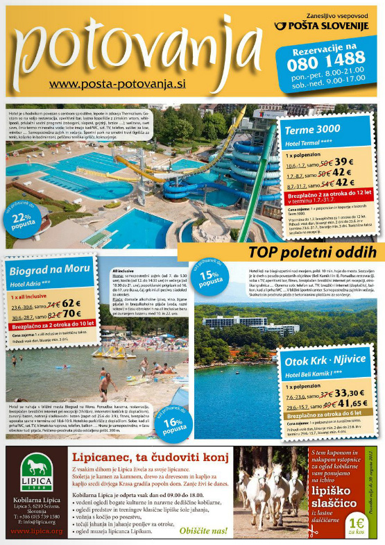 Pošta Potovanja - Katalog junij 2012