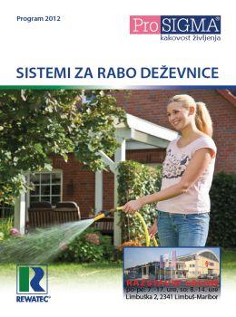 ProSIGMA katalog - Sistemi za rabo deževnice 2012