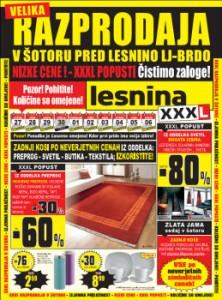 Lesnina katalog - Nizke cene in XXXL popusti