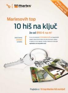 Marles katalog - top 10 hiš na ključ