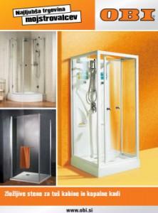 Obi katalog - Ponudba zložljivih sten za kopalnice
