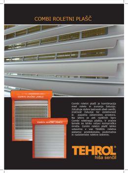 Tehrol katalog - Roletni plašč Combi