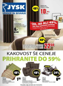 e jysk katalog kakovost e ceneje e. Black Bedroom Furniture Sets. Home Design Ideas