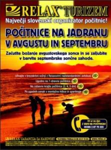 Relax katalog - Počitnice na Jadranu