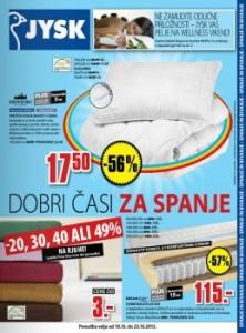 JYSK katalog - Spanec na prvem mestu