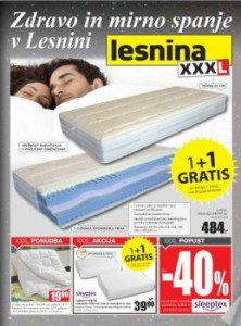 Lesnina katalog - Mirno spanje v Lesnini