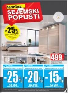 Lesnina katalog - Sejemski popusti