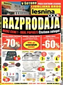 Lesnina katalog - XXXL razprodaja