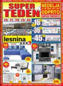 Lesnina katalog - Super teden