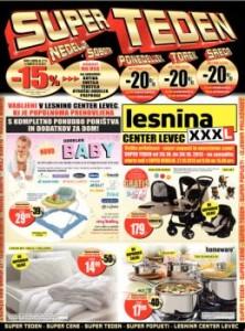 Lesnina katalog - Akcija v centru Levec