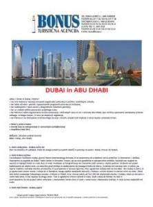 Bonus katalog - Dubai in Abu Dhabi