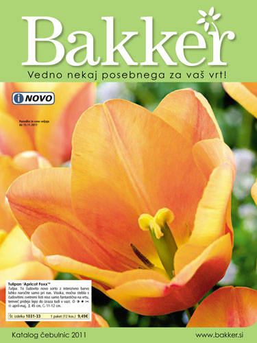 Bakker - Katalog čebulic 2011