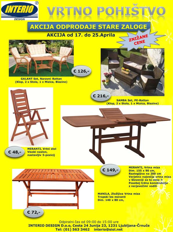INTERIO Design - Vrtno pohištvo