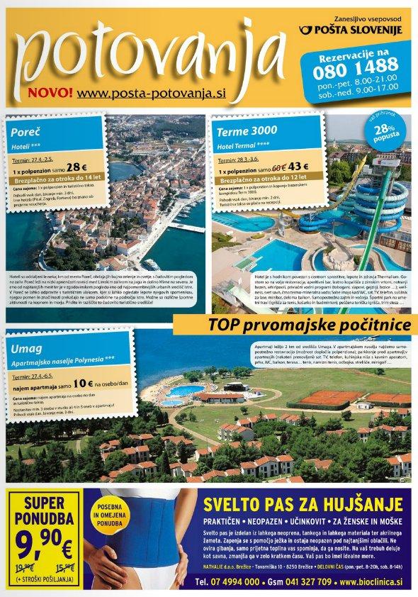 Pošta Slovenije - Katalog potovanja