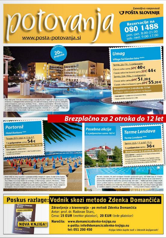 Pošta potovanja - Aktualna ponudba, maj 2012