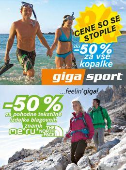 Gigasport katalog - Cene so se stopile