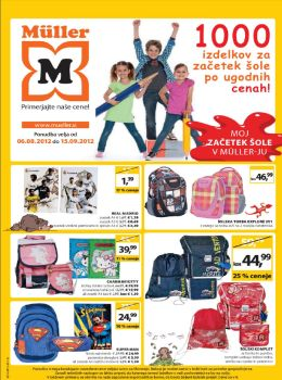 Müller katalog - Moj začetek šole v Müllerju