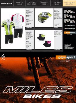 Gigasport katalog - Ponudba koles in kolesarske opreme