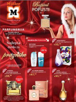 Müller katalog - Božični popusti na parfume