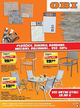 OBI katalog - Ploščice, dekorji,... do 50%!